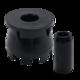 Kap-It Riser 1-1/2 in. Black Head & Nozzle Extender (10 ct.) | KAP-10