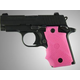 Hogue Wrap-around Rubber Grips with Finger Grooves for Sig Sauer P238 Pink 38007