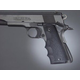 Hogue Wrap-around Rubber Grips with Finger Grooves for 1911 Government Commander Black 45000