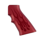 Hogue Aluminum Grips for AR15/M16 Flames-Red Anodized  15132