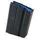 ASC Magazine: AR-15: 6.5 Grendel 15rd Capacity Black Marlube Stainless Steel Blue Follower - 15-65-SS-BM-BL-ASC