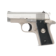 Colt .380 ACP Mustang Pocketlite Stainless with Checkered Black Grips O6891