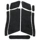 Decal Grips for Glock FingerGroove Frame Gen 3 Sand-Black G19FGS