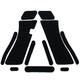 Decal Grips for Glock Full Size Gen 3 Rubber-Black G17FGR