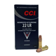 CCI .22 Long Rifle SubSonic 40 Grain Segmented Hollow Point Ammunition, 50 Rounds - 0074