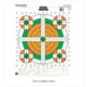 Champion Fluorescent Orange/Green Bullseye Scorekeeper Target 100 Yd Rifle Sight-In 12/Pack 45761
