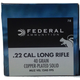 Federal 22 Long Rifle 40 Grain Copper Plated Solid Game-Shok 500rds (10 boxes of 50) - 710