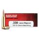 Black Hills 338 Lapua Magnum 300gr Match Hollow Point Ammunition 20rds - 2C338LAPN2