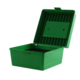 MTM Deluxe R100 Series Rifle 100rd Ammo Box, Green (22-250 Cal) - R-100-10