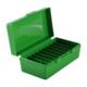 MTM P50 Series 50rd Handgun Ammo Box, Green (41/44/45 Cal) - P50-44-16