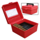 MTM FlipTop Ammo Box 22-250 to 375H-Red-100rd-R-100-30