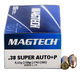 Magtech 38 Super Automatic  **NOT FOR REVOLVERS ** 130gr FMJ Ammunition 50rds - 38S