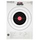 Champion Score Keeper Fluorescent Orange Bull 25-yard Slow Fire Pistol Target (Pack of 12) - 45723