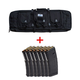 "PSA 36"" Single Gun Case, Black & Seven (7) Magpul PMAG 30, 5.56x45 Magazines"