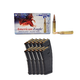200 Rounds Federal 5.56mm NATO 55GR FMJ-BT Ammunition & Ten Magpul PMAG 30 5.56x45mm Magazines