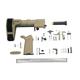 PSA MOE+ EPT Pistol Lower Build Kit With SB Tactical PDW Brace, Flat Dark Earth - 5165447769