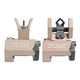 Troy BattleSights Micro M4 Front & Di-Optic Aperture Rear Set Flat Dark Earth - SSIG-MCM-SSFT-00