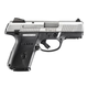 Ruger SR9c 9mm Compact Pistol, Brushed Stainless (10rd Mag Model w/ Two 17rd Mags) - 3316