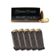 CCI Blazer Brass 9mm 115gr FMJ Ammunition, 250 Rounds Ammunition & Five Magpul Glock 17 9mm PMAG Magazines