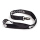 Costa Lanyard, Black With White Logo - LY 11