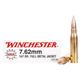 Winchester USA 7.62 Nato 147g FMJ Ammunition 20rds - Q3130