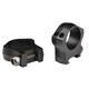 "Warne Mountain Tech Ring Set 1"", Black Hardcoat Anodized - 7200M"