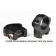 Warne Mountain Tech Ring Set 30mm, Black Hardcoat Anodized - 7214M