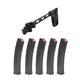 PSA AK Side Folding Brace and 5 PSA AK-V 9mm 35 Round Magazines