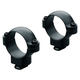 Leupold 1 inch Low Forged and Machined Steel Dual Dovetail 2-Piece Scope Ring, Matte Black - 49915