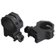 Weaver 1 inch High Aircraft Grade Aluminum 4-Hole Tactical Style Scope Ring, Matte Black - 48361