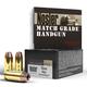 Nosler Match Grade 10mm Auto 180 grain Jacketed Hollow Point Handgun Ammo, 20/Box - 51400
