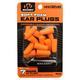 Walkers Game Ear 32 dB Inside the Ear Plug, Orange/Black, 7 Pair - GWPPLGCANOR