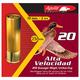 Aguila Field 20 Gauge 2-3/4 inches 4 Shot 1 oz High Velocity Lead Shotshell, Birdshot, 25/Box - 1CHB2004