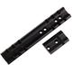Weaver Shilen Round Receiver Aluminum Top Mount Standard Rear/Front 2-Piece Scope Base, Matte Black - 48501