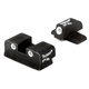Trijicon Bright & Tough #6 Front/#8 Rear Night Sight Set for Sig Sauer .40 S&W, .45 ACP Pistols - SG03
