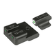 TruGlo Tritium Pro Front/Rear Night Sight Set for H&K VP9, VP40 Handguns - TG231H1W