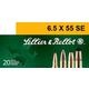 Sellier & Bellot 131 gr Semi-Jacketed Soft Point 6.5x55mm Swedish Ammo, 20/box - SB6555A