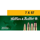 Sellier & Bellot 173 gr Semi-Jacketed Soft Point Cutting Edge 7x57mm Mauser Ammo, 20/box - SB757C