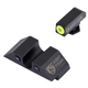 Night Fision Night Sight Set for Glock 17/17L/19/22-28/31-35/37-39 Pistols, Green with Yellow Square Front, Green with Black U-Notch Rear - GLK-001-007-YGZG
