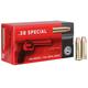 Geco 158 gr Full Metal Jacket Flat Nose .38 Spl Ammo, 50/box - 271640050