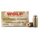 Wolf Performance Military Classic 95 gr Full Metal Jacket 9x18mm Makarov Ammo, 50/box - MC918FMJ