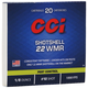 CCI .22 Winchester Magnum Rimfire Shotshell 52 Grain #12 Shot Ammunition 20rds - 0025