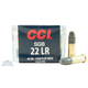 CCI .22 Long Rifle 38 Grain Lead Flat Nose Small Game Ammunition 50rds - 0058
