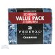 Federal .22 Long Rifle 36gr Copper Plated HP Champion Ammunition, 525 Rounds - 745