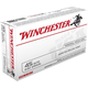Winchester USA 45 Auto/ACP 230 JHP Ammunition 50rds - USA45JHP