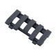 ERGO Low Pro 5 Slot Wire Loom Rail Covers - Black 4380-BK