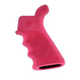 Hogue Overmolded AR-15 Pink Beavertail Pistol Grip with Finger Grooves 15027