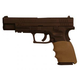 Hogue Handall Hybrid for Springfield XD 9mm, 357 SIG, and 40 S&W Desert Tan Grip Sleeve 17303