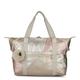 Art Medium Color Blocked Metallic Tote Bag