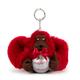 Happy Holiday's Monkey Keychain